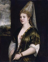 Sultana Rossa, c.1550/60 by Titian | Painting Reproduction