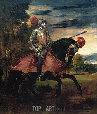 Emperor Carlos V on Horseback, 1548 | Titian | Painting Reproduction