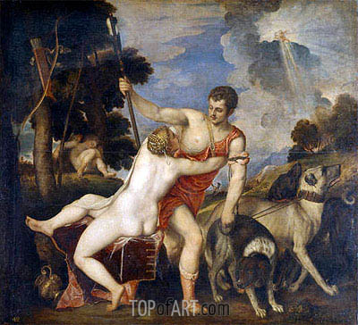 Venus and Adonis, c.1553/54 | Titian | Painting Reproduction