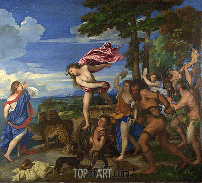 Bacchus and Ariadne, c.1520/23 | Titian | Painting Reproduction