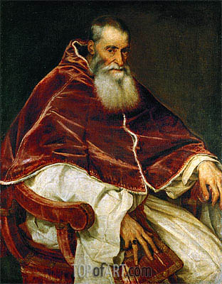 Pope Paul III (Portrait of Alessandro Farnese), 1543 | Titian | Painting Reproduction