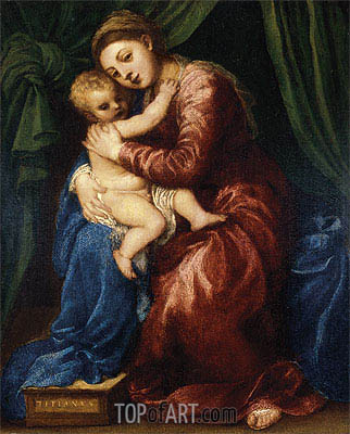 Madonna and Child, c.1540 | Titian | Painting Reproduction
