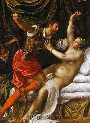 Tarquin and Lucretia, c.1571 | Titian | Painting Reproduction