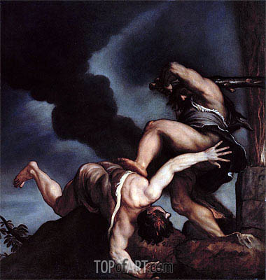 Cain taunting Abel, Undated | Titian | Painting Reproduction