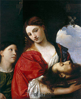 Salome with the head of St. John the Baptist, Undated | Titian | Gemälde Reproduktion