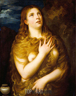 Mary Magdalene, c.1533/35 | Titian | Painting Reproduction