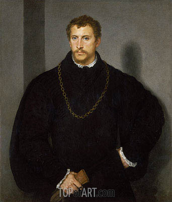 The Englishman (The Man with Grey Eyes), Undated | Titian | Painting Reproduction