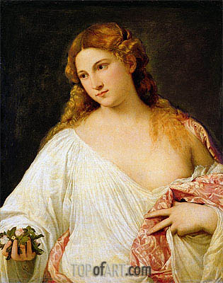 Flora, c.1515/20 | Titian | Painting Reproduction