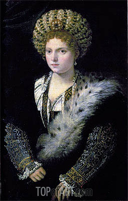 Portrait of Isabella d'Este, c.1534/36 | Titian | Painting Reproduction