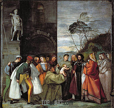 The Miracle of the Speech of the Newborn Child, 1511 | Titian | Painting Reproduction