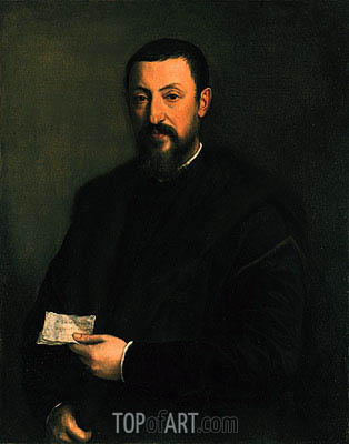 Portrait of a Gentleman, c.1550 | Titian | Painting Reproduction