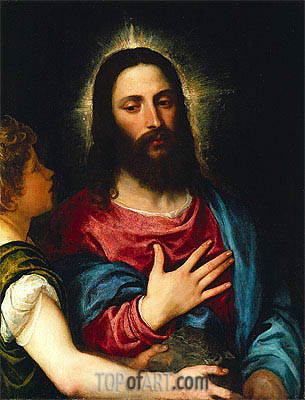 The Temptation of Christ, c.1516/25   Titian   Painting Reproduction