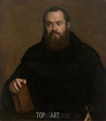 A Monk with a Book, c.1550   Titian   Painting Reproduction
