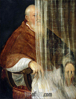 Portrait of Cardinal Filippo Archinto, 1558   Titian   Painting Reproduction