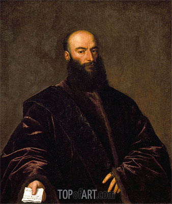 Portrait of Giacomo Dolfin, 1533   Titian   Painting Reproduction