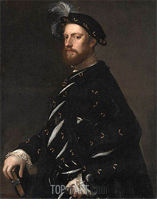 Portrait of a Man Holding a Book, c.1540 | Titian | Painting Reproduction