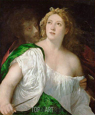 Suicide of Lucretia, c.1515   Titian   Painting Reproduction