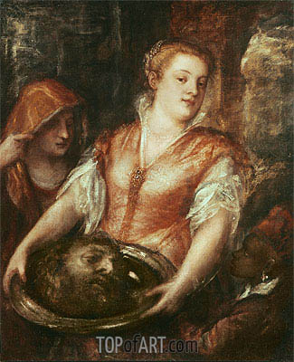 Salome with the Head of John the Baptist, undated | Titian | Painting Reproduction