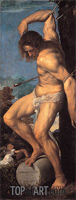 The Martyrdom of St. Sebastian (Averoldi Polyptych), 1522 | Titian | Painting Reproduction