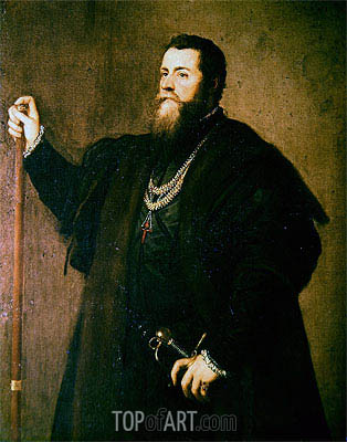 Portrait of a Knight of the Order of Santiago, 1542   Titian   Painting Reproduction