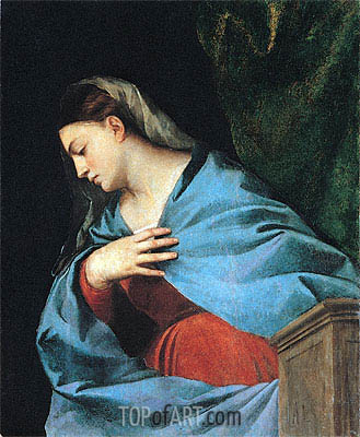 Virgin (The Averoldi Polyptych), 1522 | Titian | Painting Reproduction