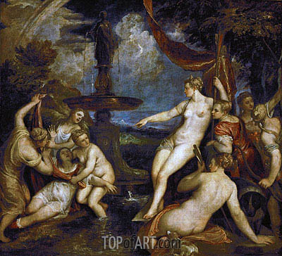 Diana and Callisto, 1568 | Titian | Painting Reproduction