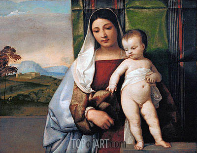 The Gypsy Madonna, c.1510 | Titian | Painting Reproduction