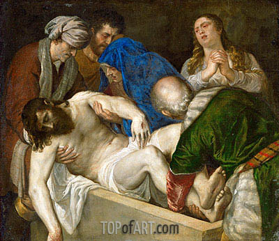 Entombment of Christ, 1560 | Titian | Painting Reproduction