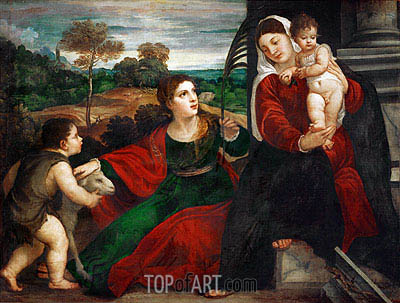 Madonna and Child with Saint Agnes and Saint John Baptist, undated | Titian | Painting Reproduction
