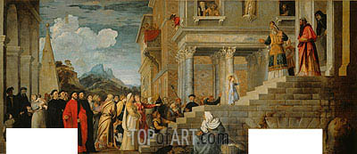 Presentation of the Virgin (Presentation of Mary in the Temple), c.1534/38 | Titian | Painting Reproduction