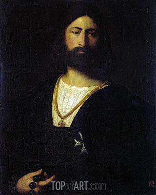 Portrait of a Knight of Malta, c.1515 | Titian | Painting Reproduction