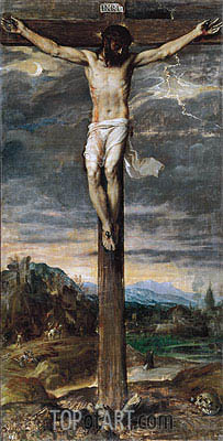 Christ on the Cross, c.1555 | Titian | Painting Reproduction