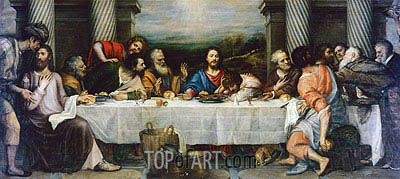 Last Supper, c.1557/64 | Titian | Painting Reproduction
