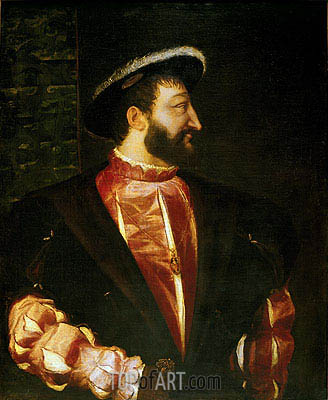 Portrait of Francois I, 1539 | Titian | Painting Reproduction