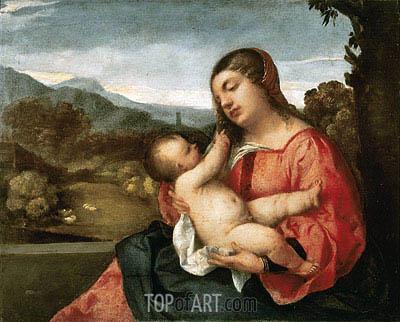 Madonna and Child in the Countryside, 1510 | Titian | Painting Reproduction