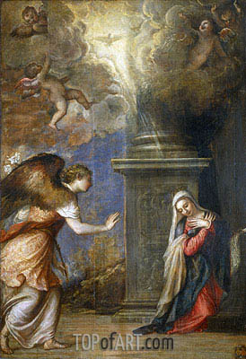 Annunciation, c.1557 | Titian | Painting Reproduction