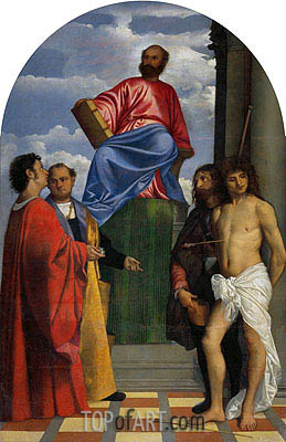 Saint Mark with other Saints, undated | Titian | Painting Reproduction
