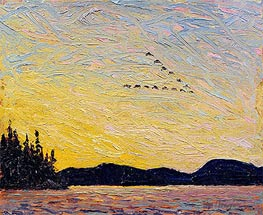 Round Lake, Mud Bay, 1915 by Tom Thomson | Painting Reproduction