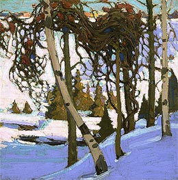 Early Snow, 1916 by Tom Thomson | Painting Reproduction