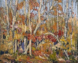Autumn Tapestry: Tangled Trees, 1914 by Tom Thomson | Painting Reproduction