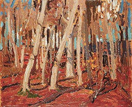 Maple Woods, Bare Trunks, 1915 by Tom Thomson | Painting Reproduction