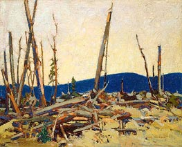 Burnt Land, 1915 by Tom Thomson | Painting Reproduction
