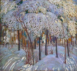 Snow in October, c.1916/17 by Tom Thomson | Painting Reproduction