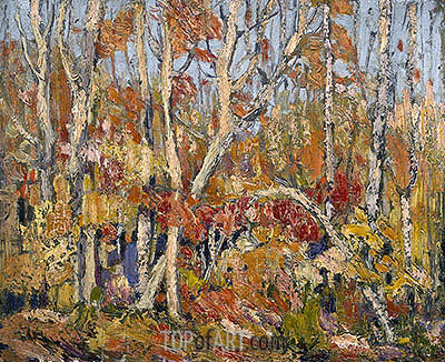Autumn Tapestry: Tangled Trees, 1914 | Tom Thomson | Gemälde Reproduktion