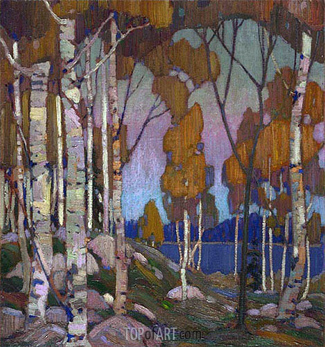 Decorative Landscape: Birches, c.1915/16 | Tom Thomson | Gemälde Reproduktion