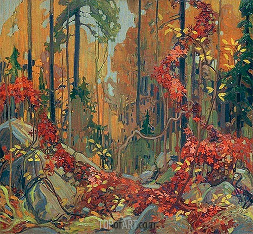 Autumn's Garland, c.1915/16 | Tom Thomson | Gemälde Reproduktion