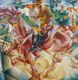 Elasticity, 1912 by Umberto Boccioni | Painting Reproduction