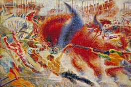 The City Rises, 1910 by Umberto Boccioni | Painting Reproduction