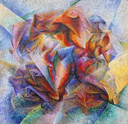Dynamism of a Soccer Player | Umberto Boccioni | Painting Reproduction