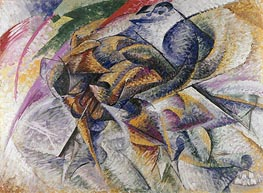 Dynamism of a Cyclist | Umberto Boccioni | Painting Reproduction